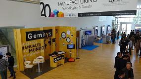 Foto de Geminys aporta su conocimiento al XX Congreso de M�quinas-herramienta y Tecnolog�as de Fabricaci�n