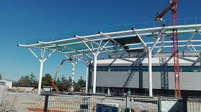 Foto de La plataforma Ultraboom 1250 AJP de JLG participa en la construcción del nuevo centro de formación Iberdrola en Madrid