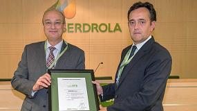 Foto de Iberdrola recibe el reconocimiento de Aenor para dos parques eólicos