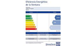 Foto de La etiqueta para ventanas de Asefave, candidata en los Premios de eficiencia energética