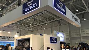 Foto de Trelleborg Wheel Systems da la campanada en Hannover anunciando la compra de Mitas