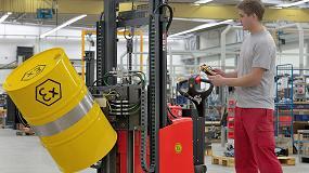 Foto de Nuevos volteadores de bidones para áreas de protección contra explosiones de Linde Material Handling