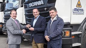 Foto de Transportes Mota S.L. incorpora a su flota 10 vehículos Scania para obra pública