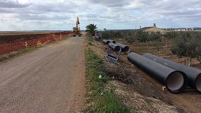 Foto de Saint-Gobain PAM España suministra tubería de fundición dúctil para la modernización de regadíos en Badajoz