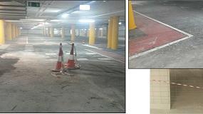 Foto de Aplicación de un pavimento autonivelante de poliuretano en un aparcamiento de Barcelona
