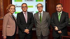 Picture of Packnet y ONCE firman un convenio de colaboraci�n con el objeto de impulsar la accesibilidad en el sector del envase y embalaje