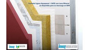 Foto de El Grupo Knauf amplía su catálogo en BIM con el sistema de Fachada Ligera Aquapanel + SATE con Lana Mineral
