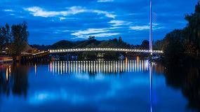 Fotografia de Soluci�n LED para la barandilla del nuevo puente peatonal sobre el r�o T�mesis