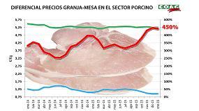 Foto de Los bajos precios de la carne de cerdo en origen no se están trasladando al consumidor