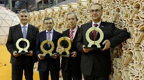 Foto de Las empresas Efi-Cretaprint, Vidres, Vernis y Bouquet Ceramic, Premios Alfa de Oro