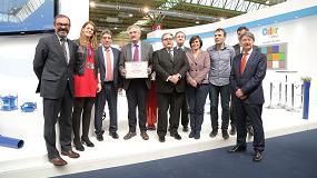 Foto de El Comité Organizador de Smagua entrega un diploma a Saint-Gobain PAM España por el 350 aniversario