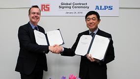 Foto de RS Components firma un acuerdo con Alps para mejorar el tiempo y la eficiencia de distribución de sus productos
