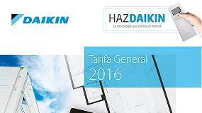 Foto de Daikin presenta su nueva Tarifa de Precios 2016