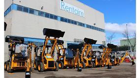 Foto de JCB y Walkia hacen entrega de 10 mini-mixtas 1CX a la empresa Rentaire