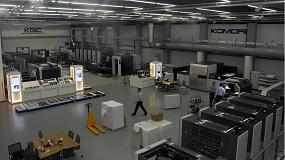 Picture of Komori, offset H-UV, digital y nanograf�a, en Drupa 2016