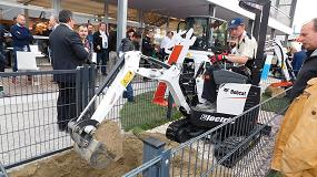 Foto de Bobcat muestra en Bauma su innovadora micro excavadora eléctrica E10 Electric