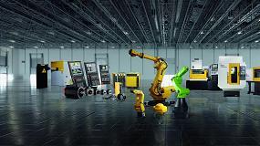 Fotografia de Fanuc muestra en BIEMH2016, y por primera vez en la Pen�nsula, su robot colaborativo CR-35iA