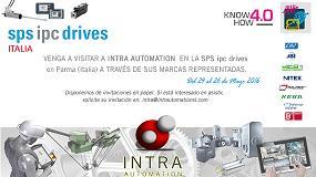 Foto de Intra Automation participa en SPS ipc drives a través de sus representadas