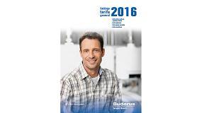 Foto de Buderus presenta su nueva tarifa 2016