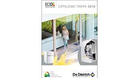 Foto de De Dietrich presenta su nuevo Cat�logo Tarifa 2016 con nuevas soluciones de alta eficiencia
