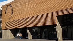 Foto de Lunawood de Gabarró, material protagonista en el nuevo Mercat Municipal de Sant Adrià de Besòs (Barcelona)