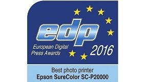 Foto de El modelo SureColor SC-P20000 de Epson gana el Premio EDP 2016 a la Mejor Impresora Fotográfica