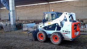 Foto de Bobcat S530 en una explotación ovina