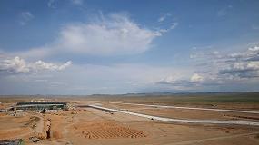 Picture of Las extendedoras de encofrado deslizante de Wirtgen participan en la construcci�n del nuevo aeropuerto de Mongolia