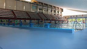 Foto de Seguridad y calidez en la piscina con suelos de seguridad Altro