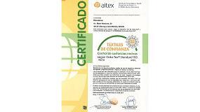 Fotografia de Resuinsa consigue, 18 a�os consecutivos, el certificado Oeko-Tex Standard 100 para sus textiles