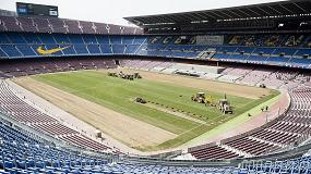 Picture of El Camp Nou se pasa al c�sped h�brido