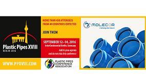 Foto de Molecor estará presente en el Congreso Plastic Pipes XVIII