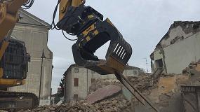 Foto de La pinza seleccionadora MB-G 900 de MB Crusher se adapta perfectamente a las labores de rehabilitación urbana