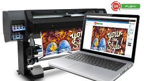 Foto de Certificación de software otorgada de SAi para las impresoras HP Látex 560 y HP Látex 570