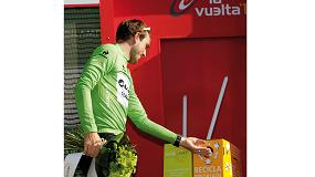 Foto de Ambilamp entrega el maillot a la deportividad y conciencia sobre el reciclaje de lamparas en La Vuelta