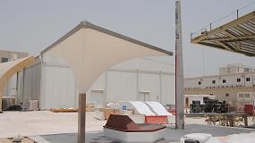 Foto de Esteva fabrica e instala los Landscape Elements para el metro de Qatar