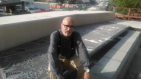 Fotografia de Esteva realiza trabajos en acero inoxidable del National Museum of Qatar