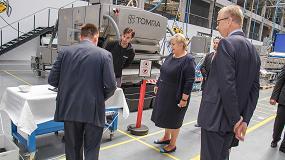 Picture of La primera ministra noruega elogia las instalaciones de Tomra Sorting Solutions en Senec, Eslovaquia
