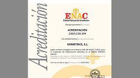 Foto de Gometrics obtiene la acreditaci�n ENAC en presi�n
