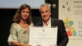 Foto de Mapei, reconocido por su apoyo al sector cerámico en el marco del 47º Congreso de la Academia Internacional de la Cerámica