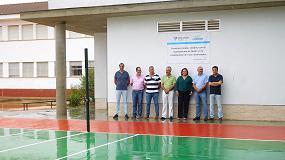 Fotografia de Cementos Cosmos colabora en la rehabilitaci�n de instalaciones deportivas en Niebla