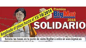 Fotografia de Bigmat ampl�a el plazo de presentaci�n de candidaturas de los Premios Solidarios 2016