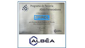 Foto de Spirol Brasil, reconocido como Proveedor del Año de Albéa 2015