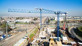 Foto de Gr�as Linden Comansa en la construcci�n del metro Lo Valledor en Santiago de Chile