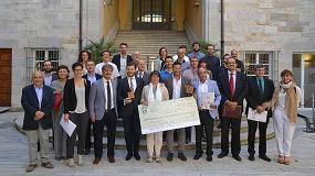 Fotografia de El Icsuro entrega el primer premio de emprendimiento con corcho a Kliu Solutions, fabricante de materiales sostenibles para la construcci�n
