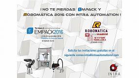 Foto de Robomática y Empack acogen las novedades de Intra Automation