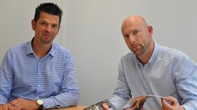 Foto de Entrevista a Gert Geens, director de desarrollo del negocio, y Sébastien Stabel, director comercial, de Xeikon