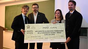 Foto de ICSURO y AECORK entregan la primera beca para el máster en Bebidas Fermentadas URV