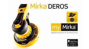 Foto de Éxito de la nueva lijadora Mirka Deros con conexión Bluetooth