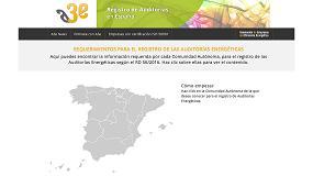 Foto de Nueva web de A3e sobre elregistro de auditorías energéticas